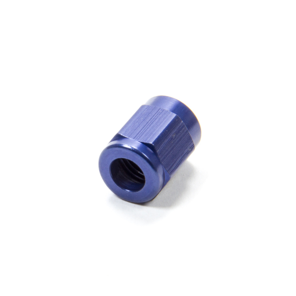 Fragola 481803 Fitting, Tube Nut, 3 AN, 3/16 in Tube, Aluminum, Blue Anodize, Each