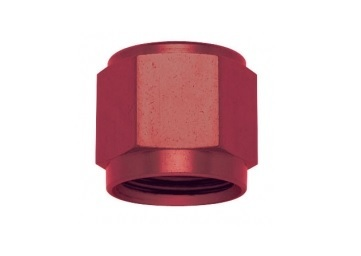 Fragola 481824 Fitting, Tube Nut, 4 AN, 1/4 in Tube, Aluminum, Red Anodize, Each
