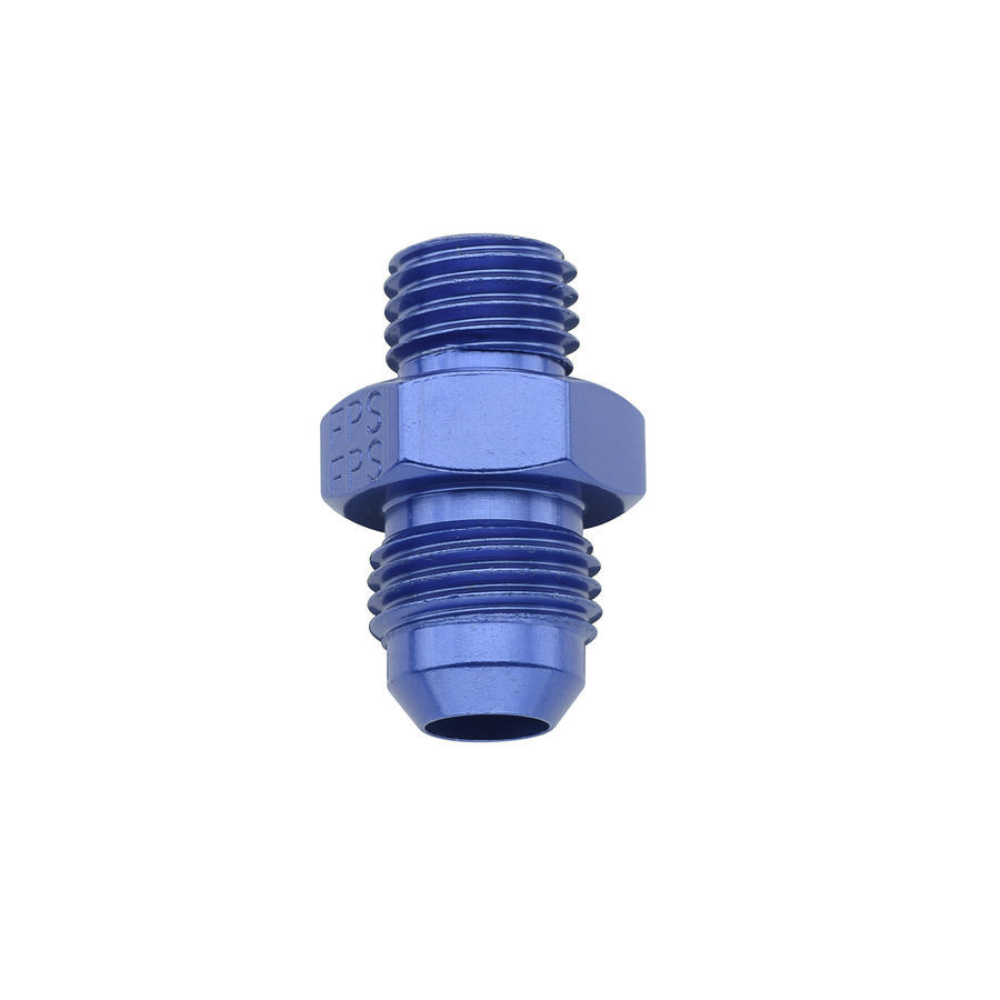 Fragola 491954 Fitting, Adapter, Straight, 6 AN Male to 12 mm x 1.25 Male, Aluminum, Blue Anodize, Each