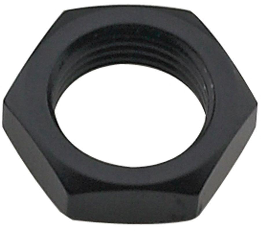 Fragola 492404-BL Bulkhead Fitting Nut, 4 AN, Aluminum, Black Anodize, Each