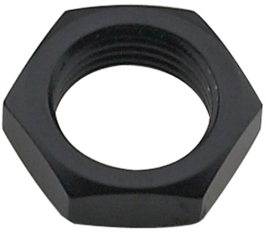 Fragola 492410-BL Bulkhead Fitting Nut, 10 AN, Aluminum, Black Anodize, Each