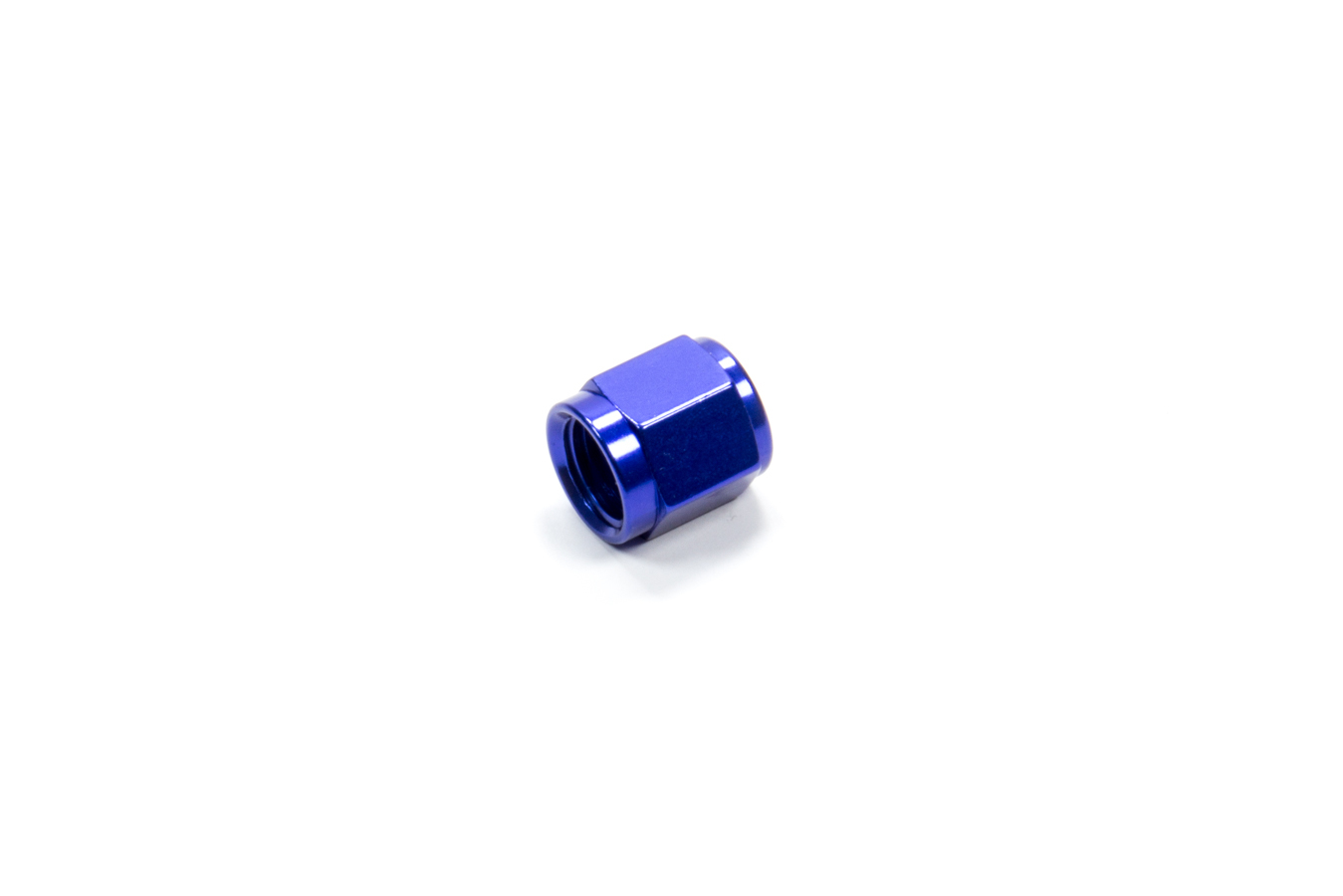 Fragola 492904 Fitting, Cap, 4 AN, Aluminum, Blue Anodize, Each