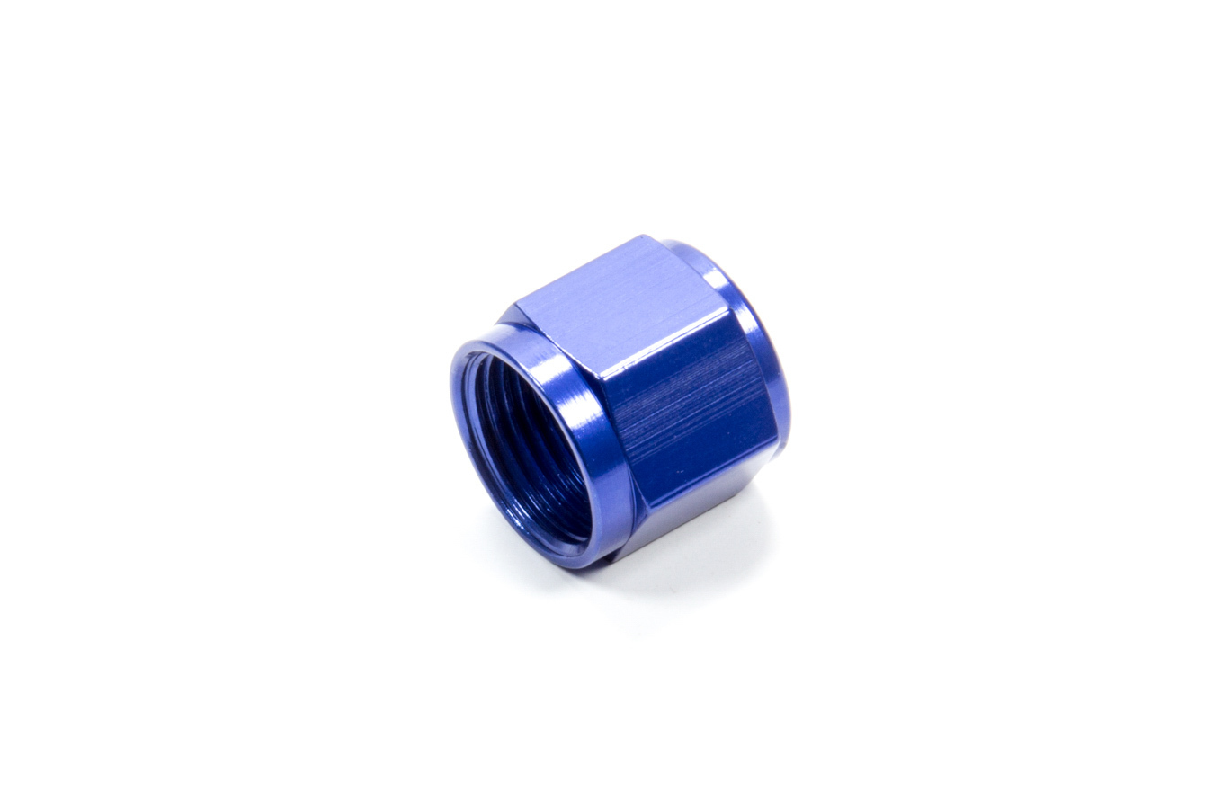 Fragola 492910 Fitting, Cap, 10 AN, Aluminum, Blue Anodize, Each