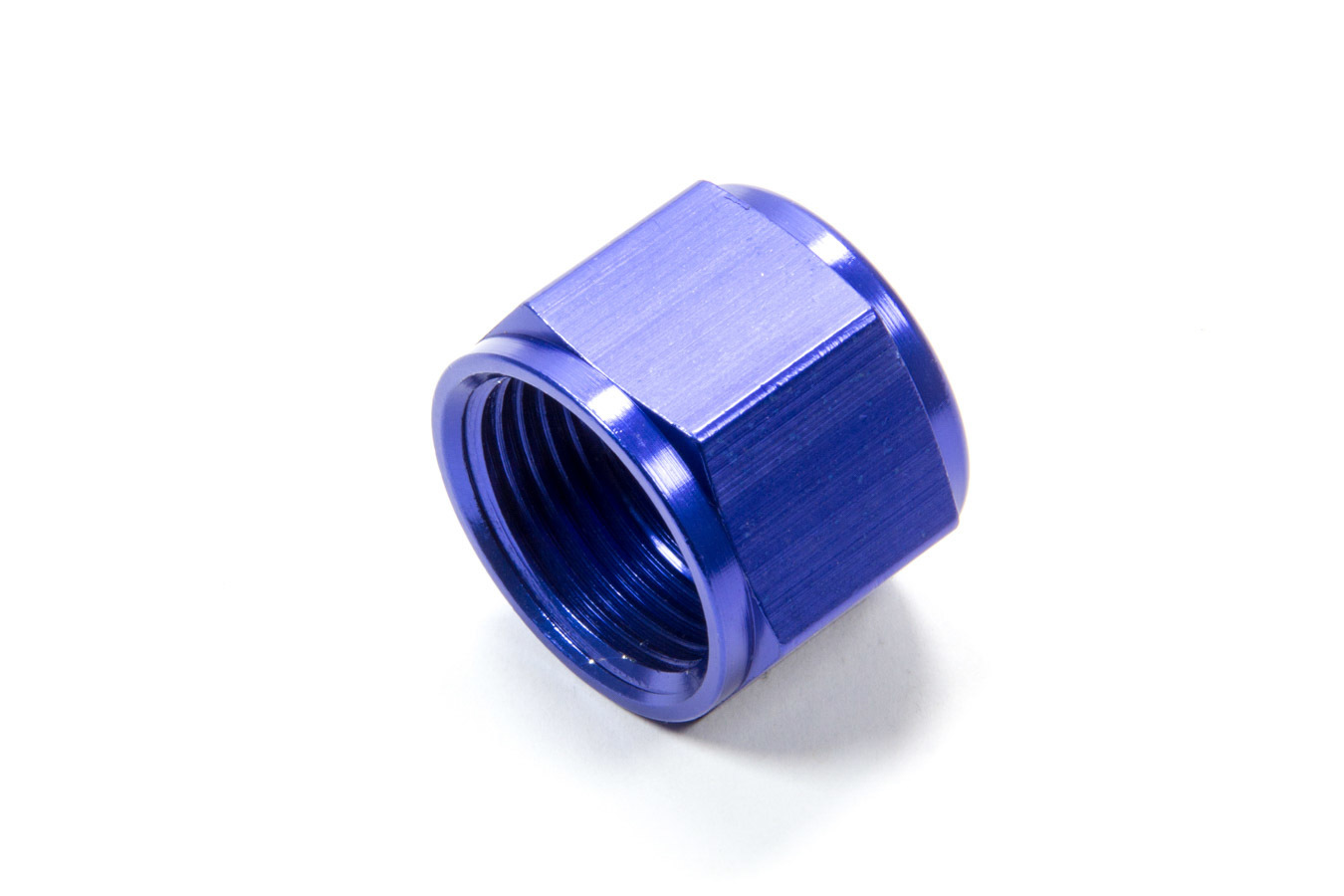Fragola 492912 Fitting, Cap, 12 AN, Aluminum, Blue Anodize, Each