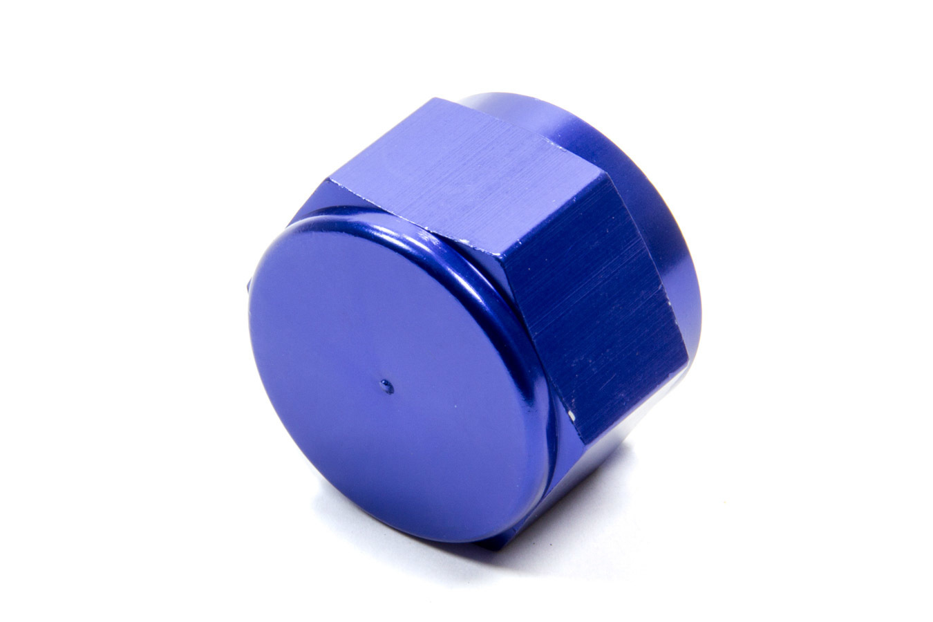 Fragola 492916 Fitting, Cap, 16 AN, Aluminum, Blue Anodize, Each