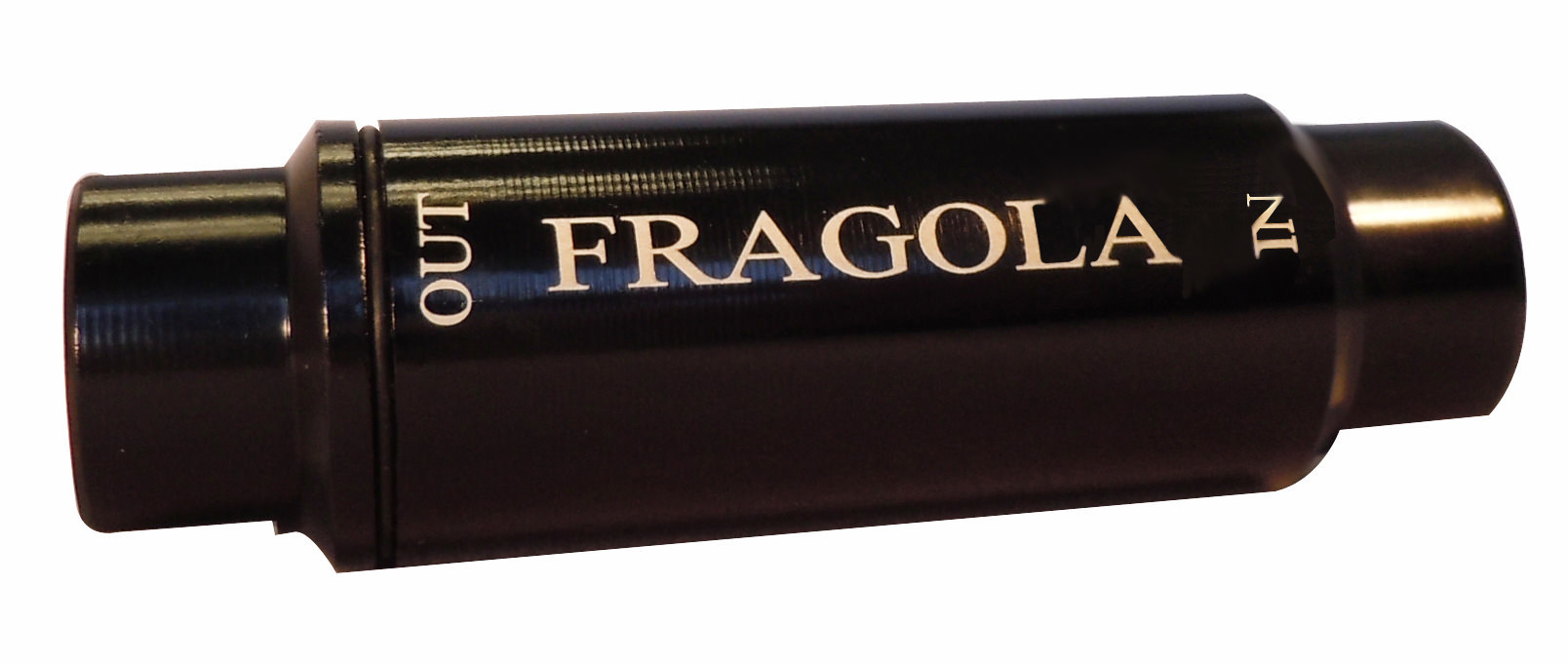 Fragola 960001-BL Fuel Filter, In-Line, 40 Micron, Paper Element, 6 AN Female Inlet, 6 AN Female Outlet, Aluminum, Black Anodize, Each