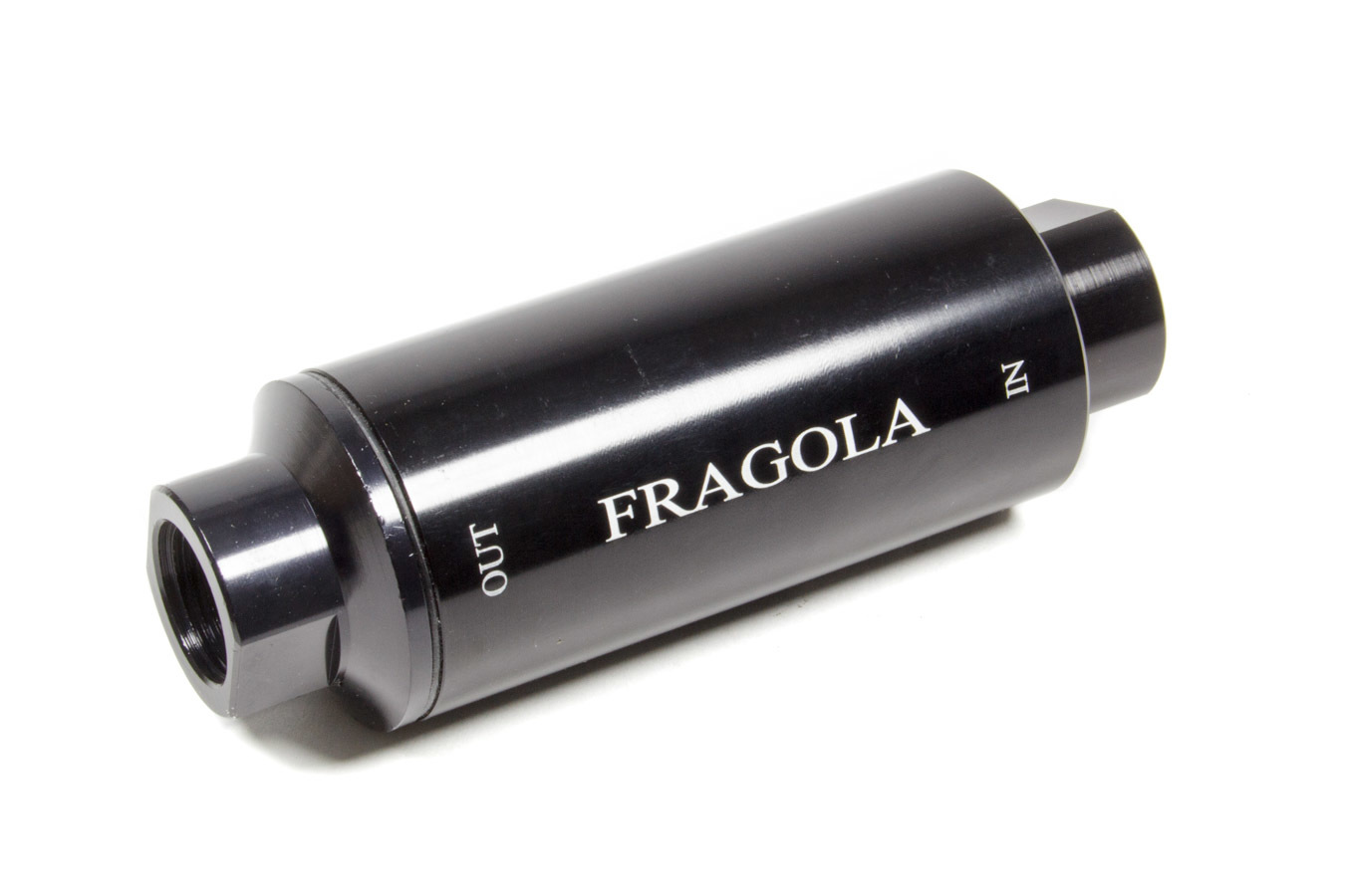 Fragola 960002-BL Fuel Filter, In-Line, 10 Micron, Paper Element, 10 AN Female Inlet, 10 AN Female Outlet, Aluminum, Black Anodize, Each