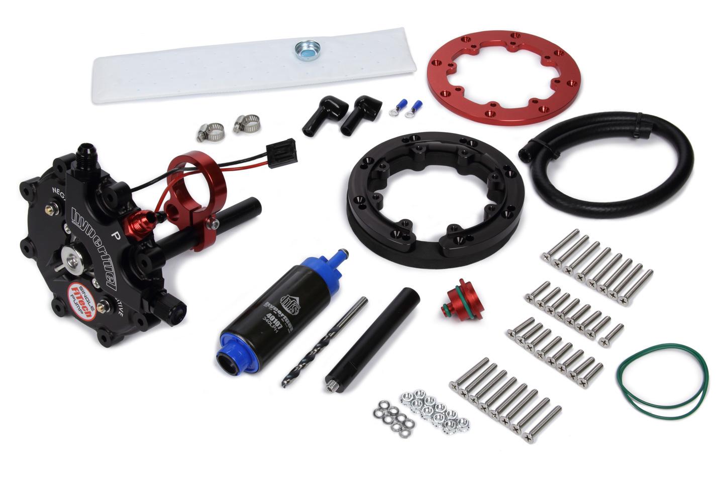FST Performance Carburetor 40019 Fuel Pump, G-Sump, Electric, In-Tank, Single Pump, 340 lph, 6 AN Fittings, Gas, Each