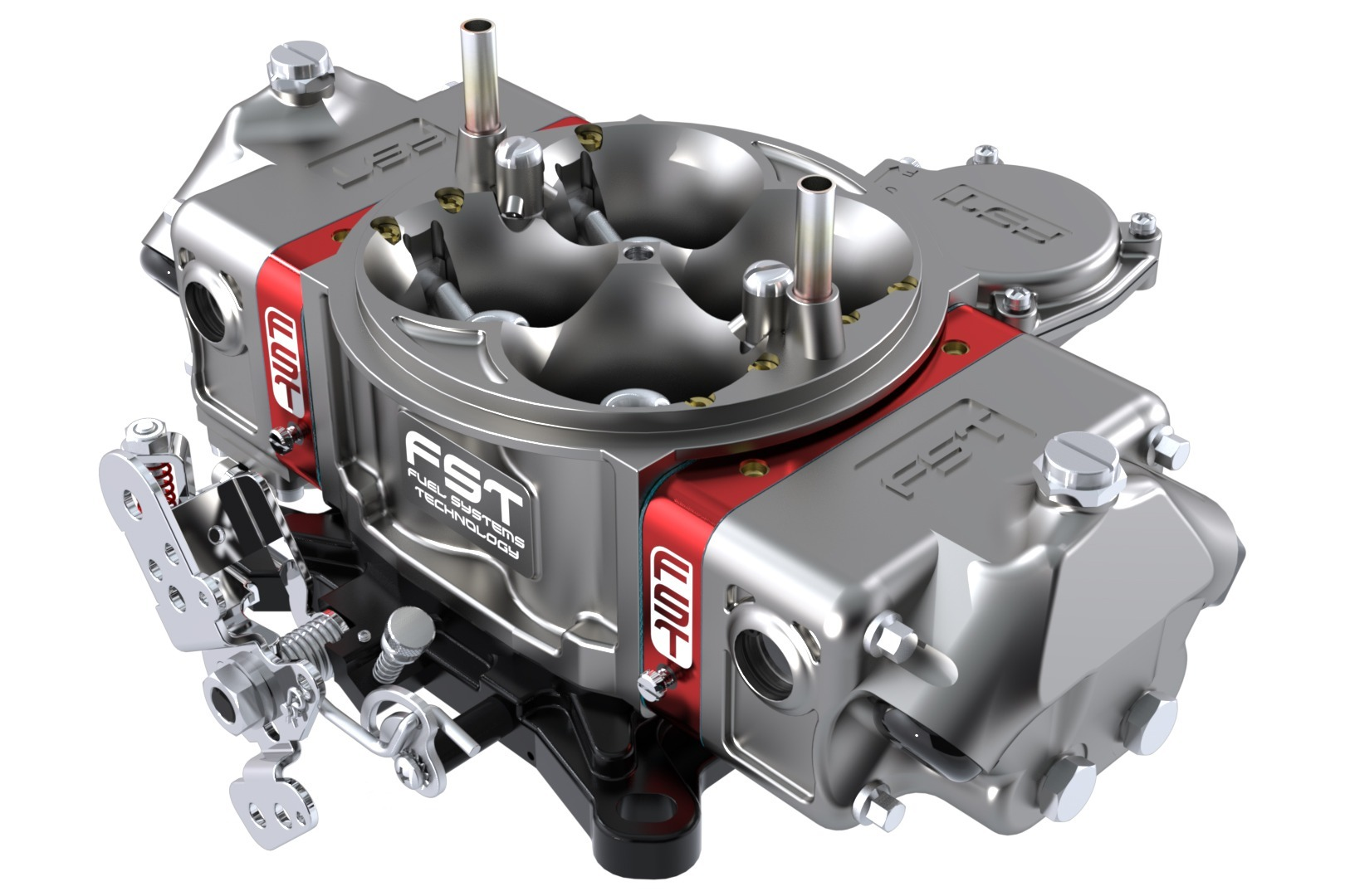 FST Performance Carburetor 41750B Carburetor, Billet X-treme, 4-Barrel, 750 CFM, Square Bore, Vacuum Secondary, Dual Inlet, Titanium Anodize, Each