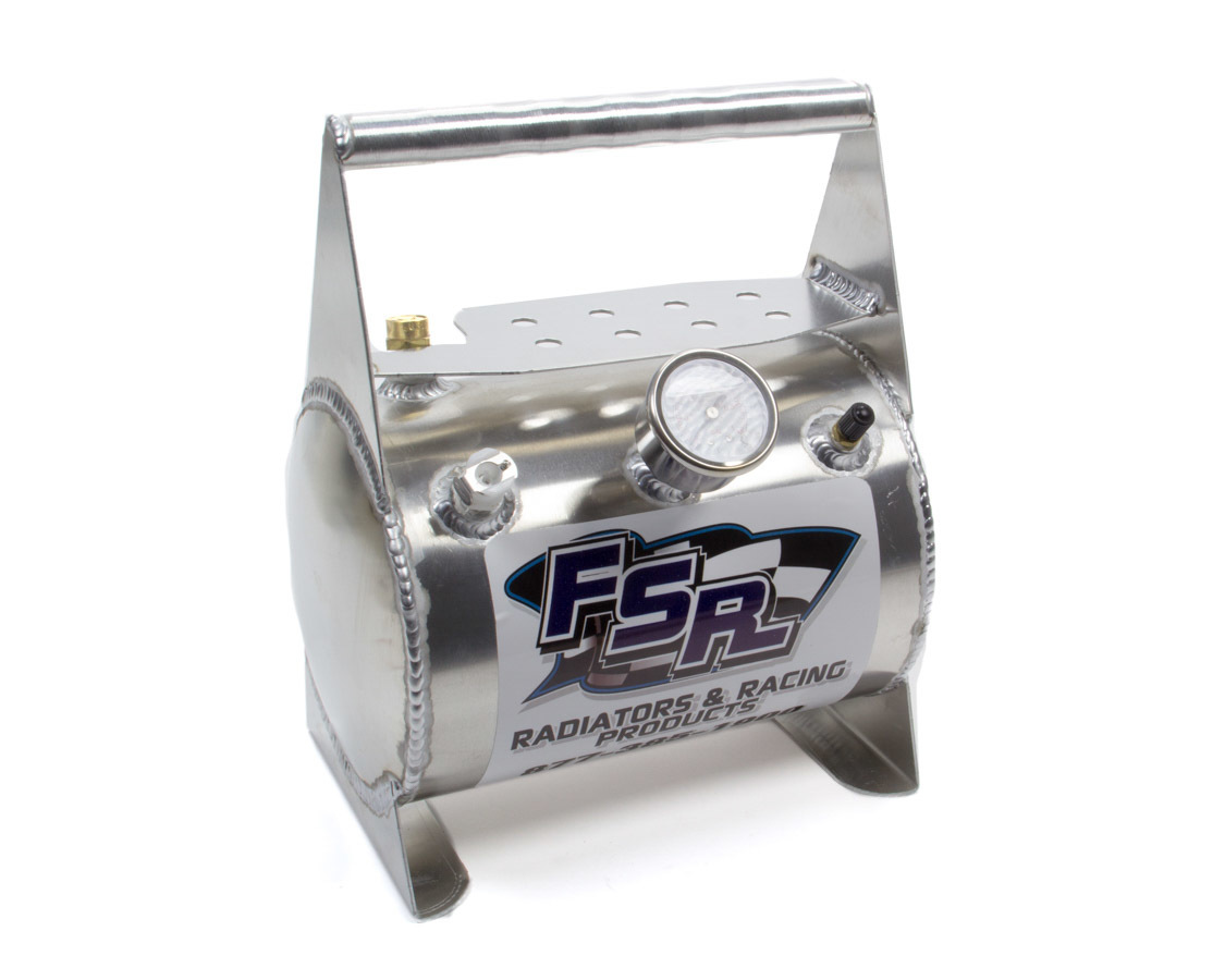FSR Racing 122853 Tire Pressure Relief Valve Tank, Up to 15 psi, Aluminum, Natural, Each
