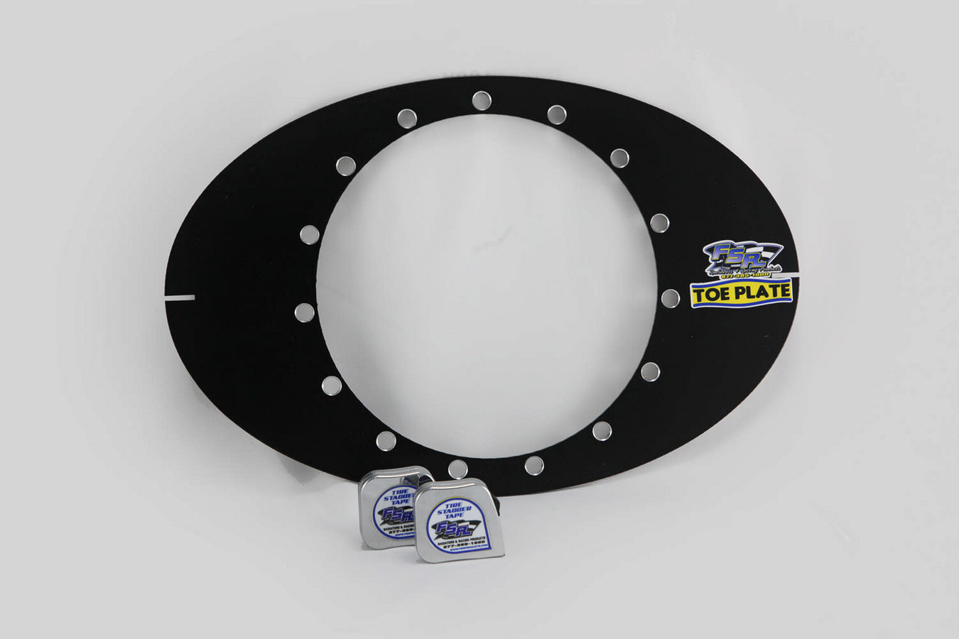 FSR Racing 1229 Toe-In Plates, 2 Plates, Aluminum, Natural, Sprint Car, Pair