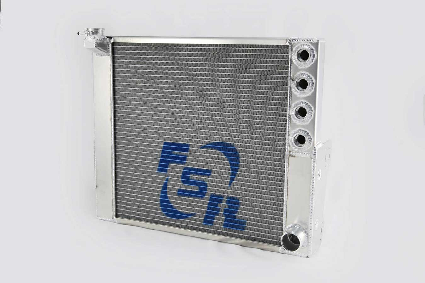 FSR Racing 6291 Radiator, Sprint Cross Flow, 22 in W x 20 in H, Passenger Side Inlet, Passenger Side Outlet, Aluminum, Natural, Sprint Car, Each