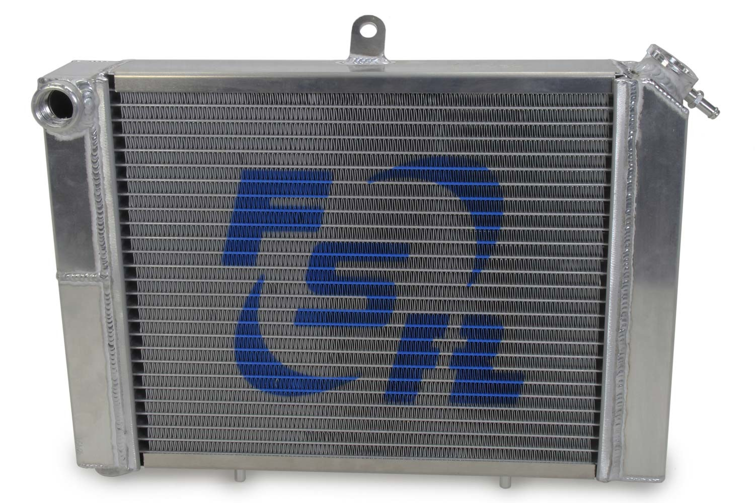 FSR Racing 78302-2 Radiator, 17 in W x 12 in H, Dual Pass, Drivers Side Inlet, Drivers Side Outlet, Cage Mount, Aluminum, Natural, Mini Sprint, Each