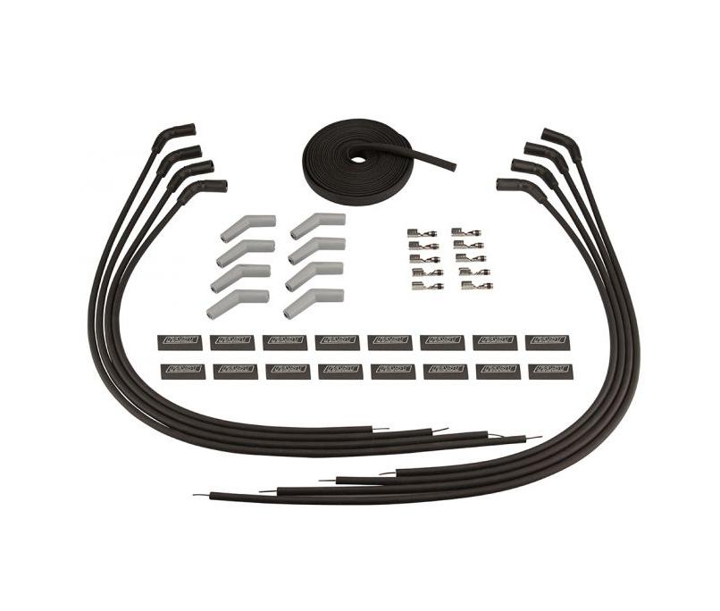 Fast Electronics 295-2422 Spark Plug Wire Set, Firewire, Spiral Core, 9 mm, Black, 135 Degree Plug Boots, Socket Style, Cut to Fit, GM LS-Series, Kit