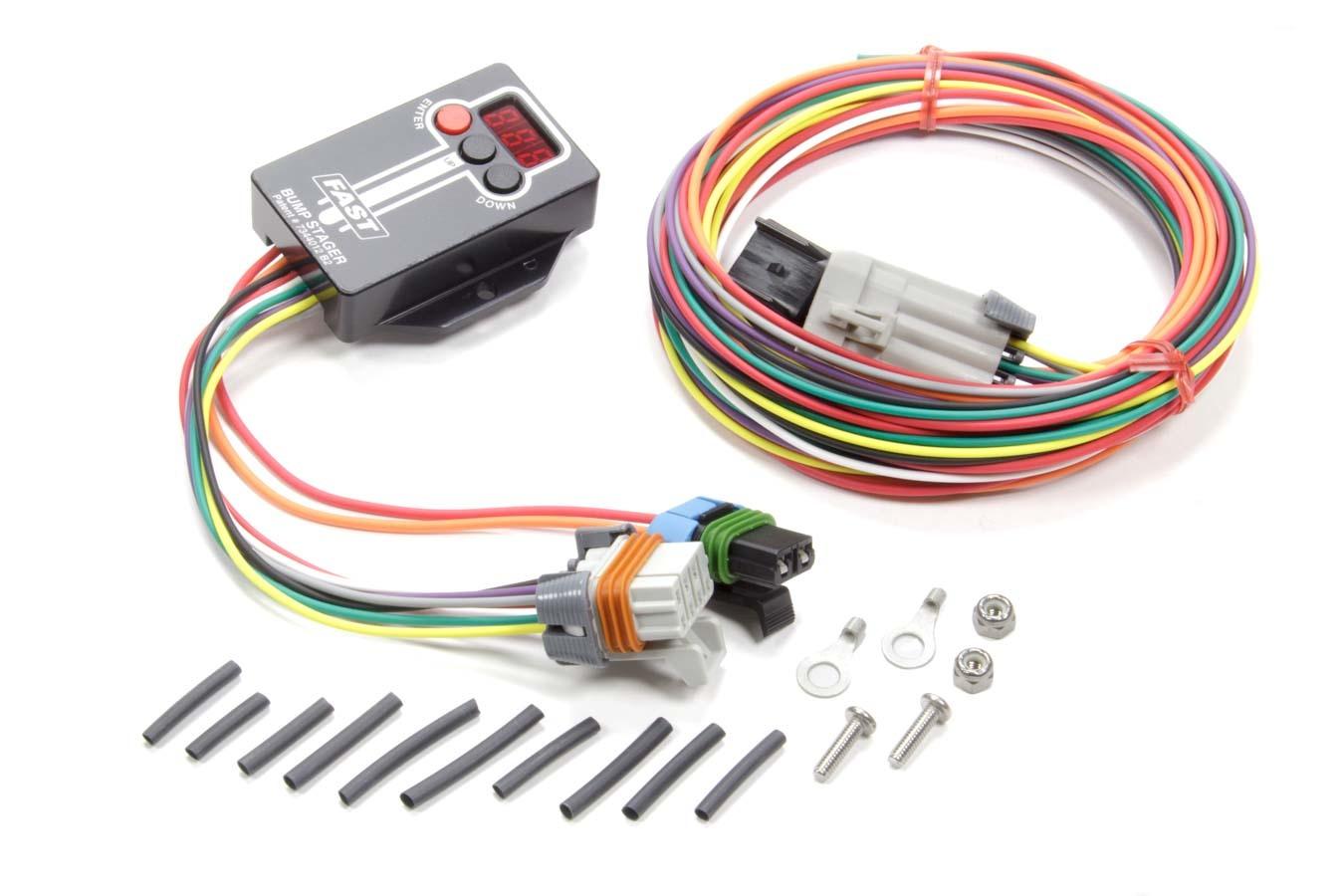 Fast Electronics 30322 Transbrake Controller, Bump Stager, Digital Display / Harness, Universal, Kit