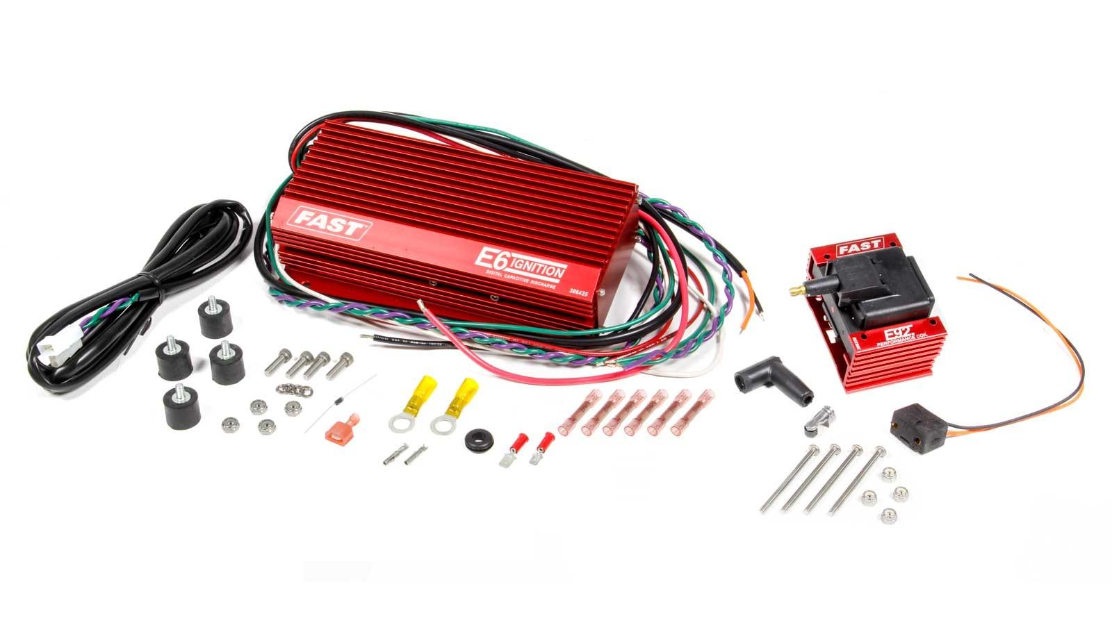 Fast Electronics 306401 Ignition Box, E6, Digital, CD Ignition, Multi-Spark, 450V, Rev Limiter, Coil Included, Kit