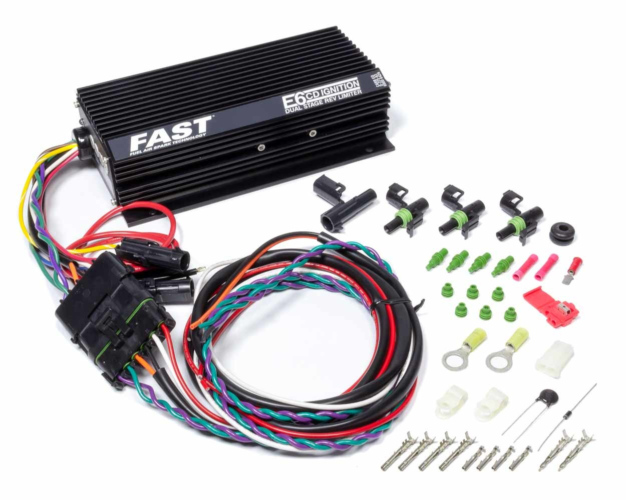 Fast Electronics 6000-6424 Ignition Box, FireBall, HI-6DSR, Digital, CD Ignition, Multi-Spark, Dual-Stage Rev Limiter, Kit