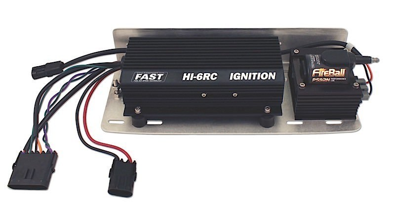 Fast Electronics 6000-6701 Ignition Kit, HI-6RC, Digital, CD Ignition, Multi-Spark, Rev Limiter, Start Retard, Ignition Coil, Bracket, Oval Track, V8, Kit
