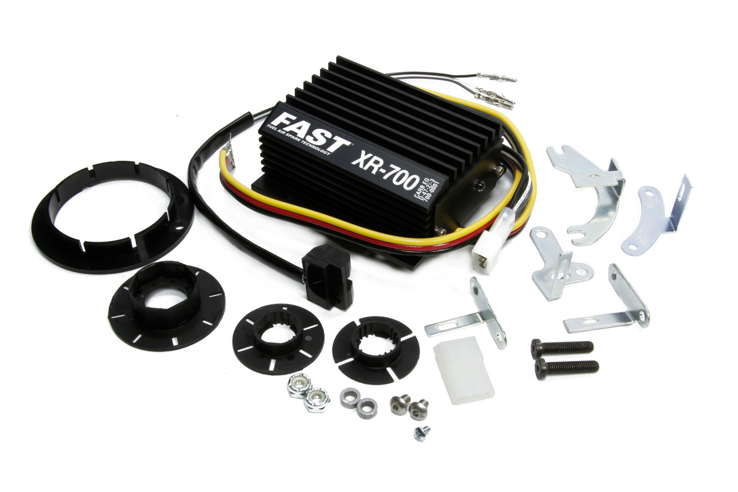 FAST 700-0226 Ignition Conversion Kit, XR700, Points to Electronic, Optical Trigger, Domestic 4 / 6 / 8-Cylinder / VW / Bosch 009 Distributor, Kit