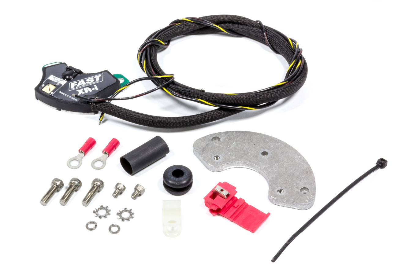 FAST 750-1710 Ignition Conversion Kit, XR-I, Points to Electronic, Distributor Cam Lobe Trigger, Rev Limiter, Chevy V8, Kit