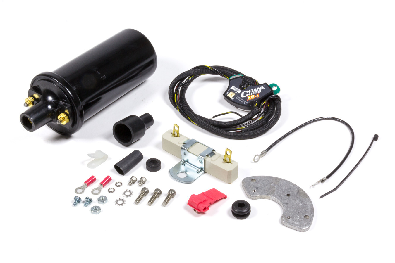 FAST 750-1715 Ignition Conversion Kit, XR-I, Points to Electronic, Distributor Cam Lobe Trigger, Rev Limiter, PS20 Coil, Chevy V8, Kit