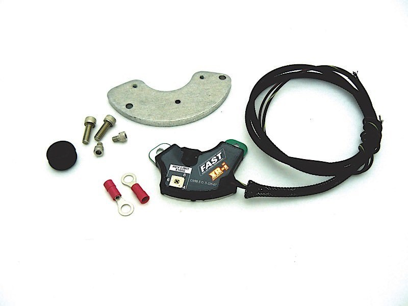 Fast Electronics 750-1720 Ignition Conversion Kit, XR-I, Points to Electronic, Distributor Cam Lobe Trigger, Rev Limiter, Pontiac V8, Kit