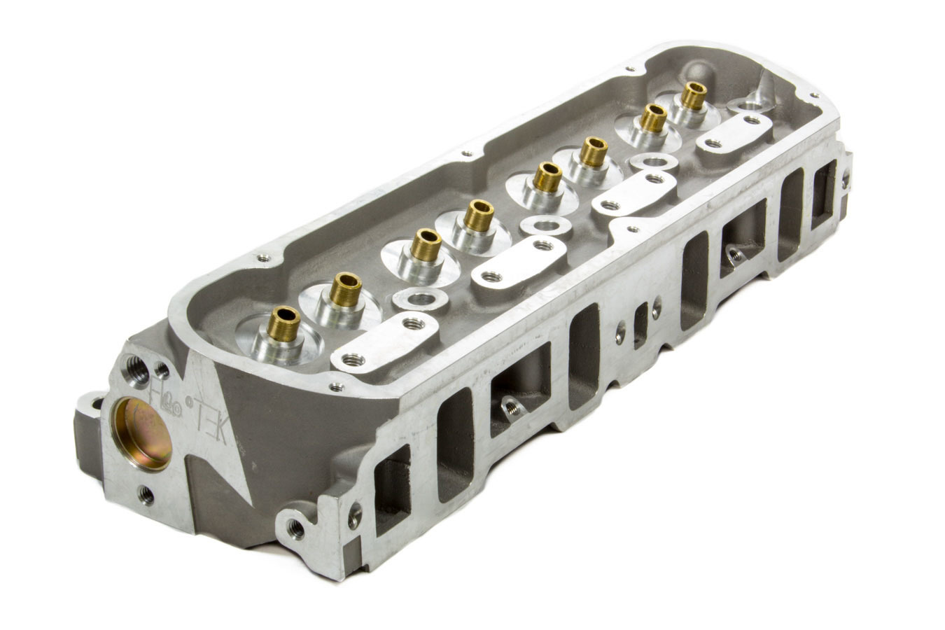 Flo-Tek 203500 Cylinder Head, Bare, 1.940 / 1.550 in Valves, 180 cc Intake, 58 cc Chamber, Aluminum, Small Block Ford, Each