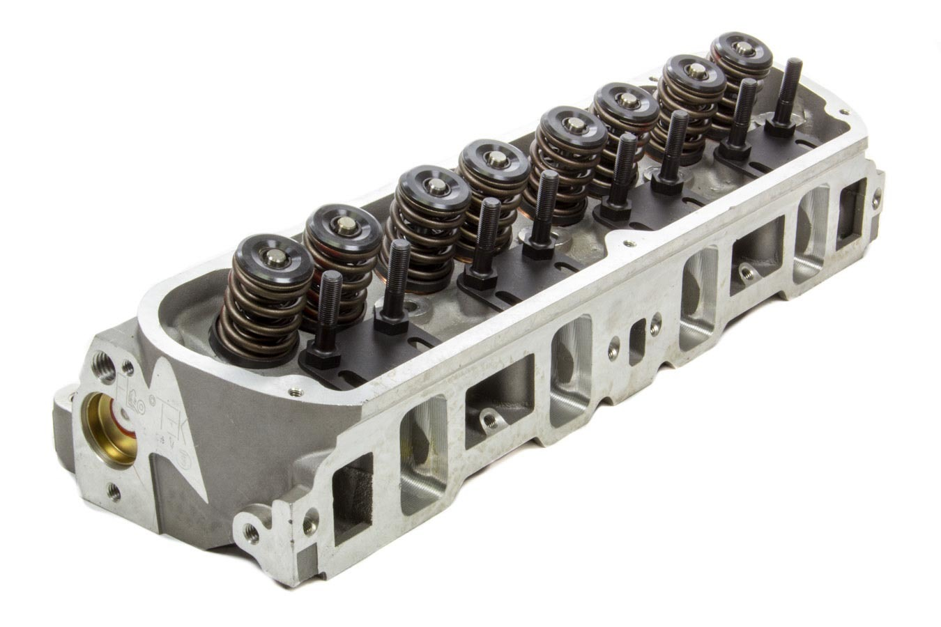Flo-Tek 2190-HRCNC-505 Cylinder Head, Assembled, 2.020 / 1.550 in Valves, 190 cc Intake, 60 cc Chamber, 1.460 in Springs, Aluminum, Small Block Ford, Each