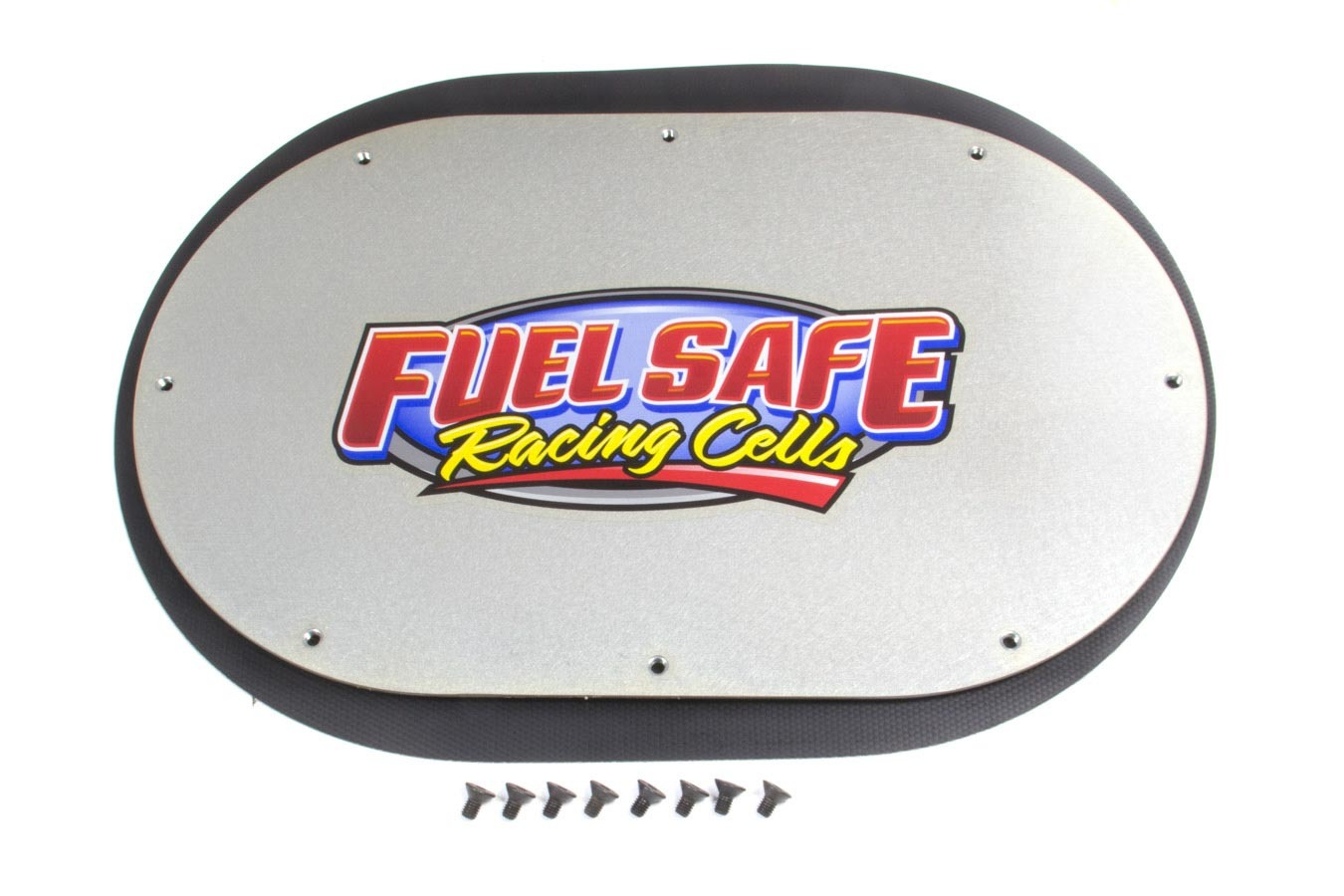 Fuel Safe CP7X12 Tail Tank Cover Plate, 7 x 12 in Oval, Aluminum, Cadmium, Each
