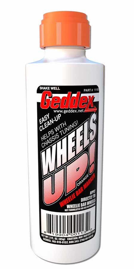Wheels Up Wheelie Bar Marker Orange 3oz Bottle