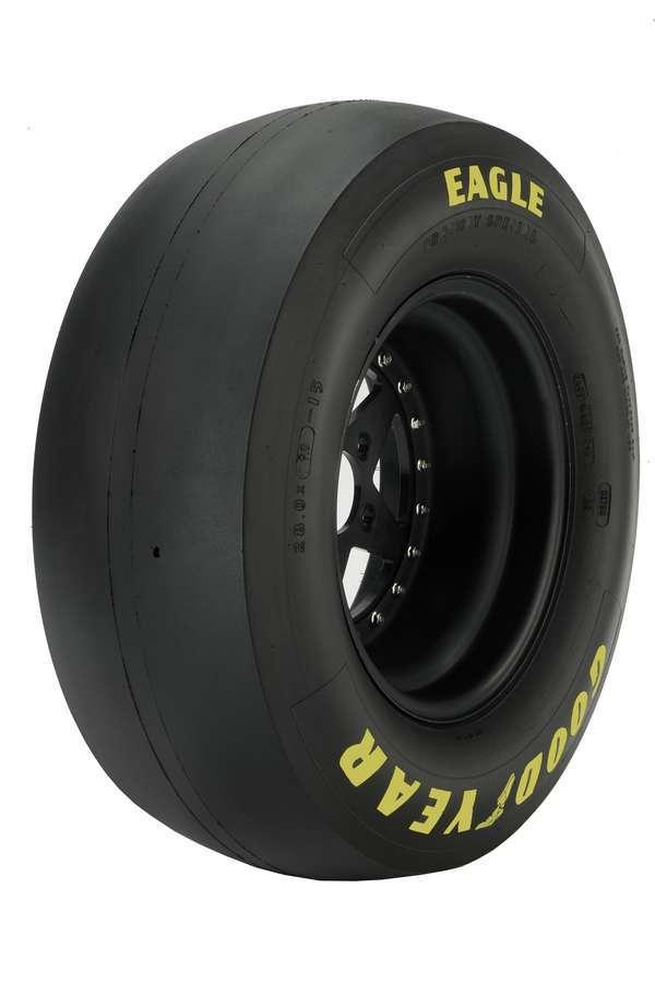Goodyear D2018 Tire, Drag Slick, Stock / Super Stock, 31.0 x 13.0-15, Bias Ply, D-5 Compound, Medium Stiff Sidewall, Yellow Letter Sidewall, Each