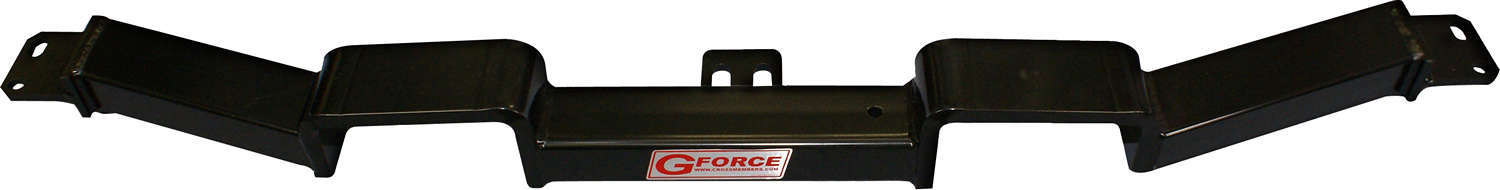 G Force Crossmembers RCAE Transmission Crossmember, Bolt-On, Steel, Black Powder Coat, GM A-Body 1964-67, Each