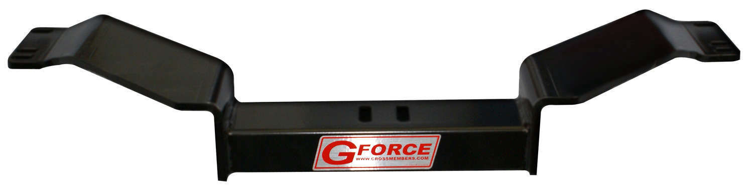 G Force Crossmembers RCF1-400 Transmission Crossmember, Bolt-On, Steel, Black Powder Coat, TH400 / 2004R Transmissions, GM F-Body 1967-69 / X-Body 1968-74, Each