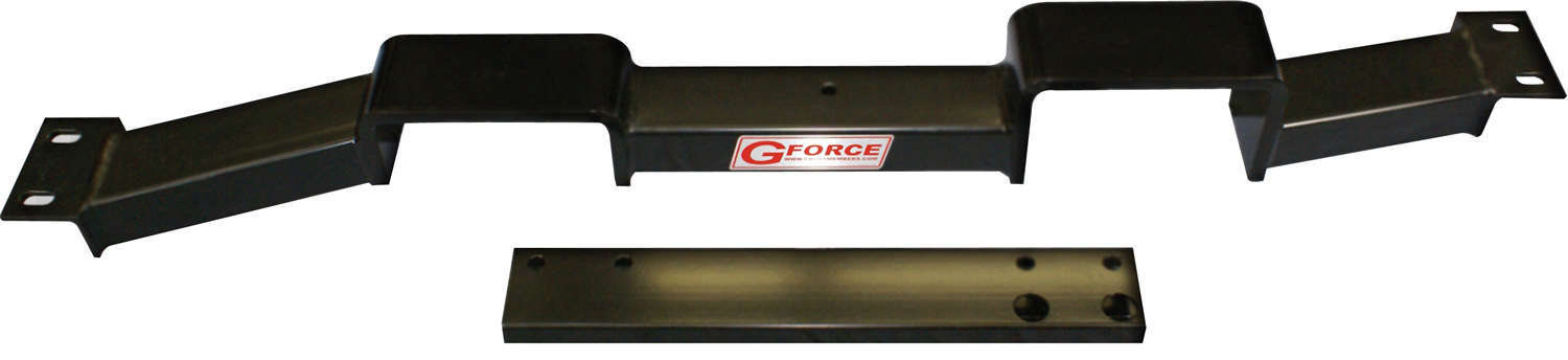 G Force Crossmembers RCG-400K Transmission Crossmember, Bolt-On, Steel, Black Powder Coat, Frame Extension Included, TH400 Transmissions, GM G-Body 1978-88, Each