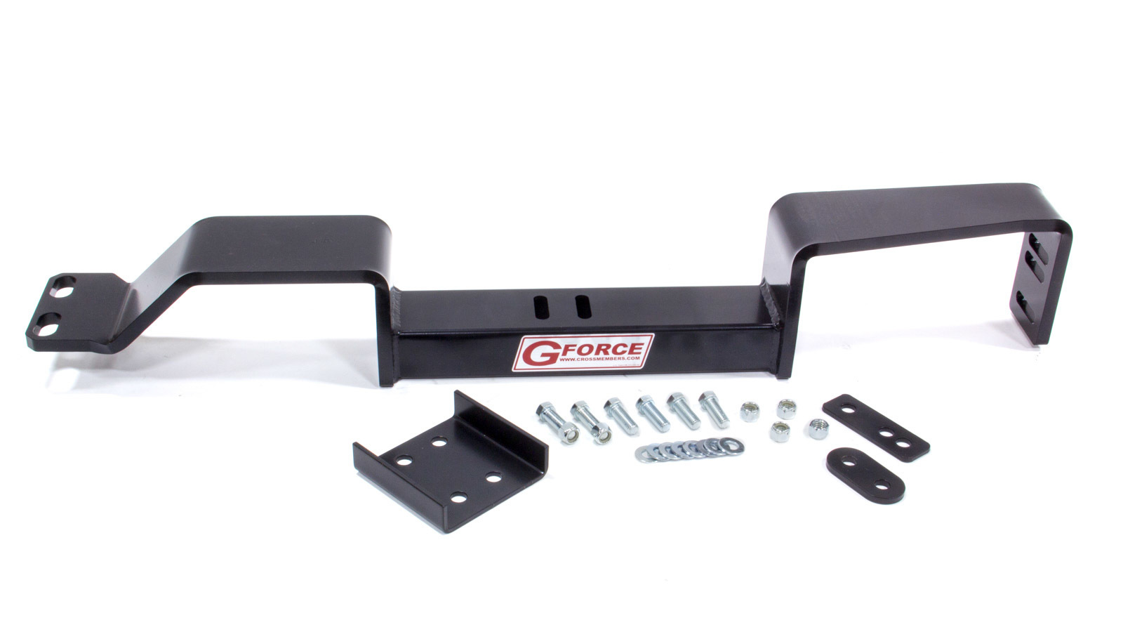 G Force Crossmembers RCS-10 Transmission Crossmember, Bolt-On, Steel, Black Powder Coat, GM Compact Truck 1982-2005, Each