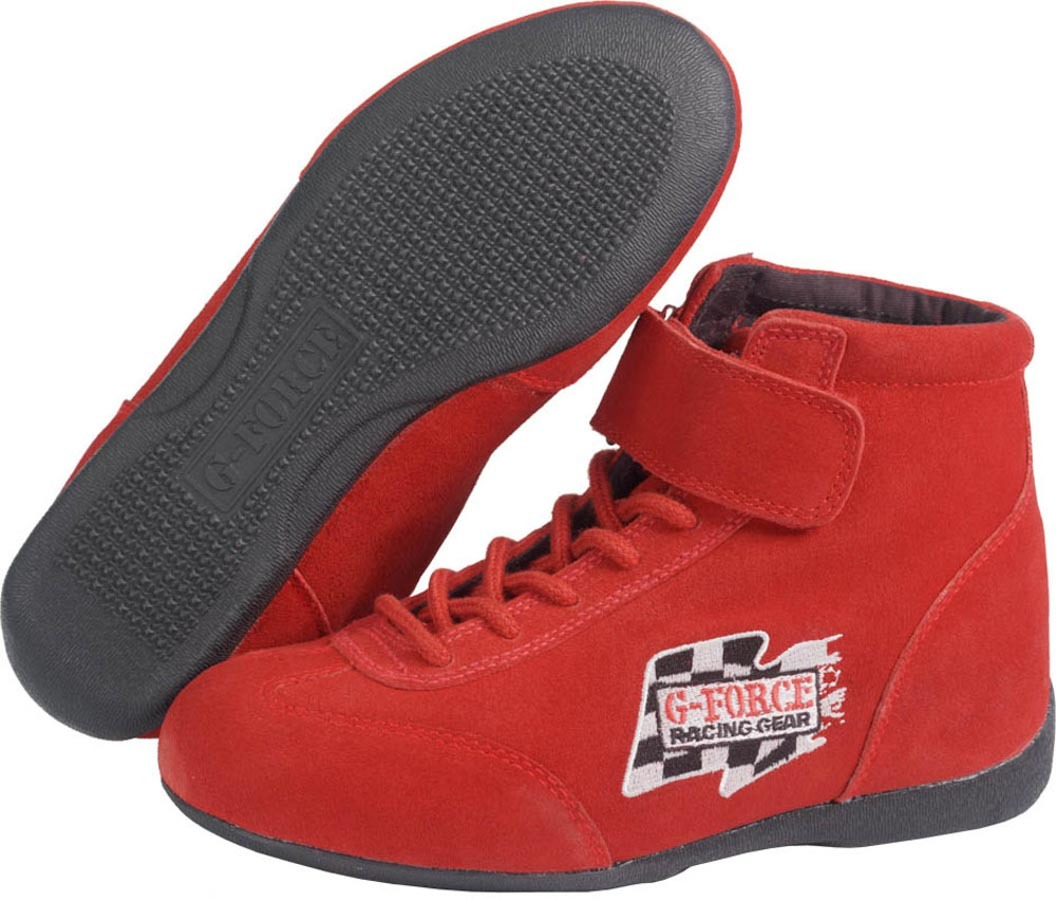 GF235 RaceGrip Mid-Top Shoes Red Size 8