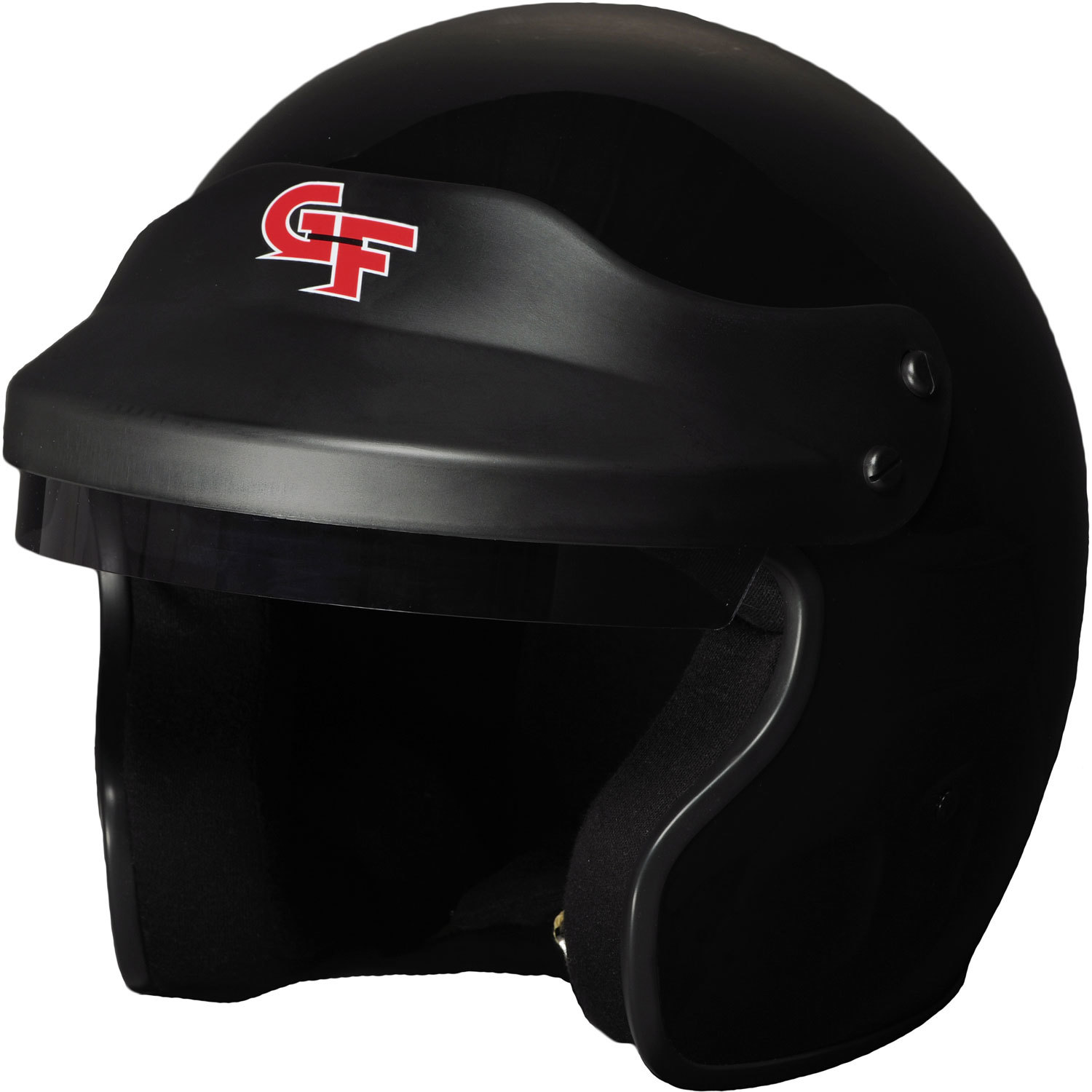 G-Force 3121SMLBK Helmet, GF1, Open Face, Snell SA2015, Head and Neck Support Ready, Black, Small, Each