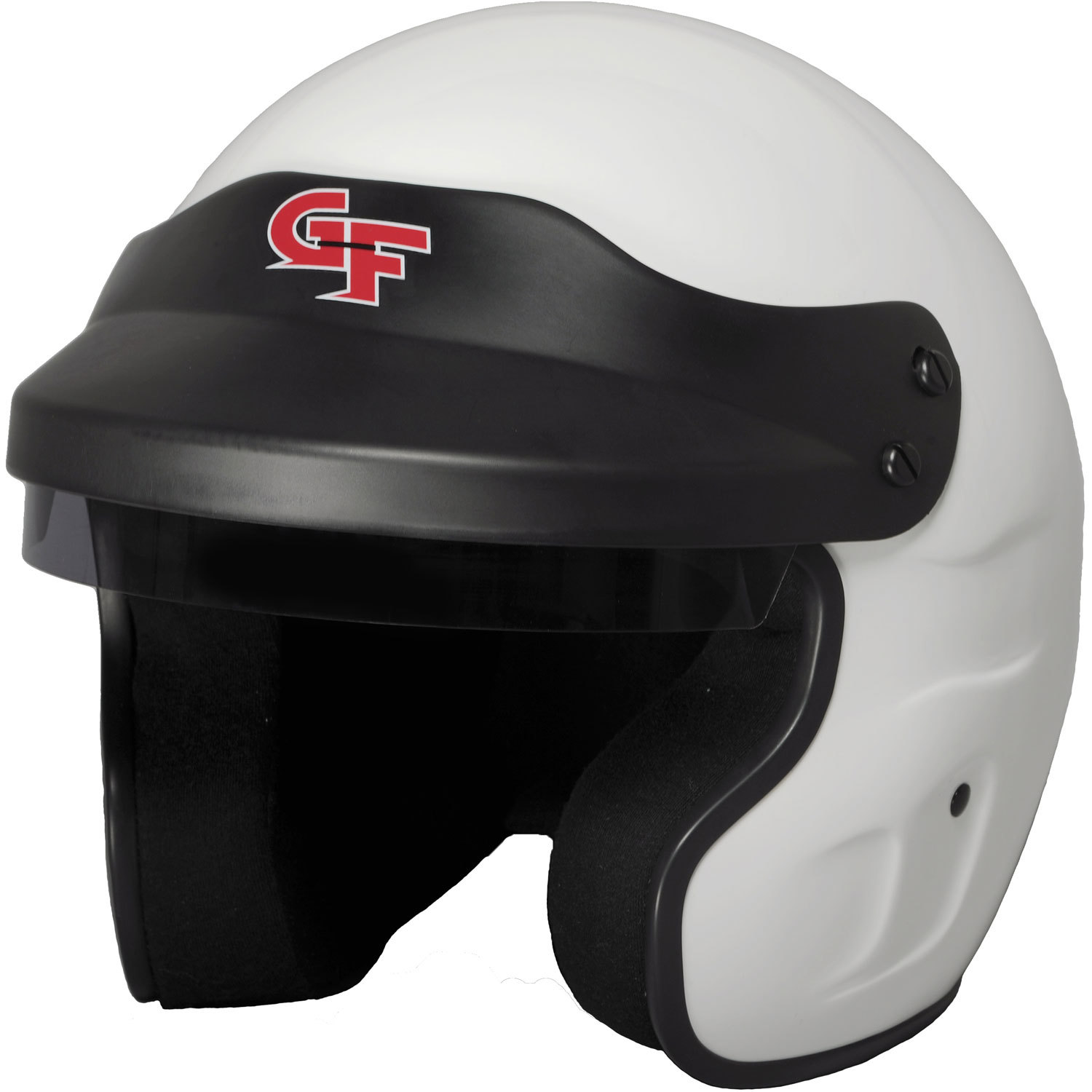 G-Force 3121XLGWH Helmet, GF1, Open Face, Snell SA2015, Head and Neck Support Ready, White, X-Large, Each
