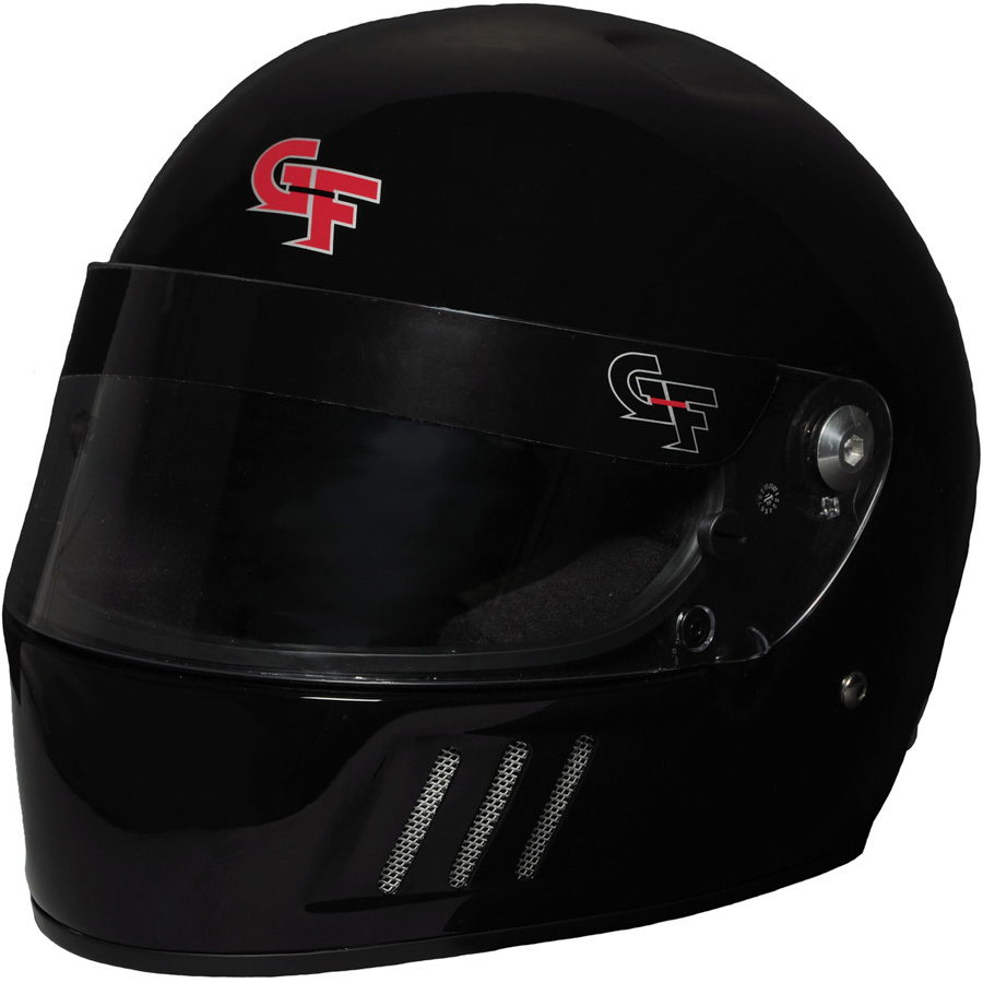 G-Force 3123SMLBK Helmet, GF3, Full Face, Snell SA2015, Head and Neck Support Ready, Black, Small, Each