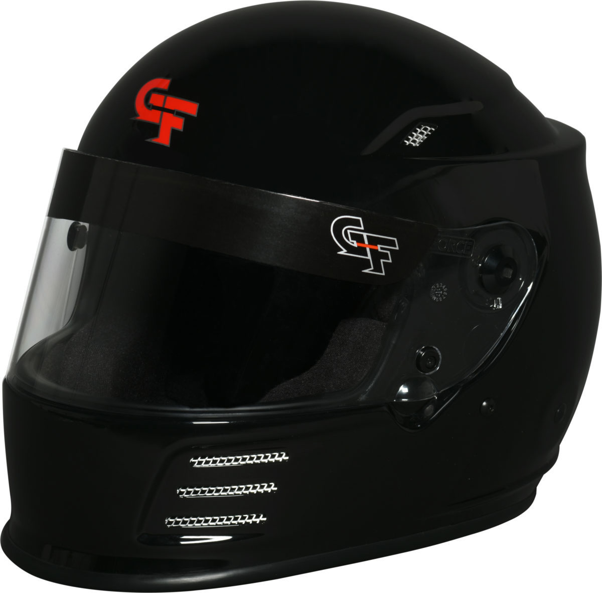 G-Force 3410XLGBK Helmet, Revo, Full Face, Snell SA2015, Head and Neck Support Ready, Black, X-Large, Each
