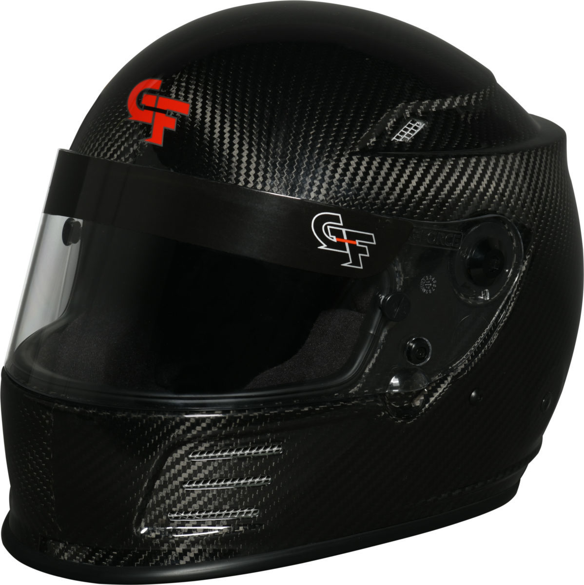 G-Force 3411SMLBK Helmet, Revo, Full Face, Snell SA2015, Head and Neck Support Ready, Carbon Fiber, Small, Each