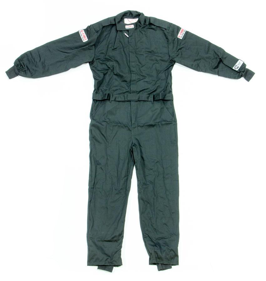 G-Force 4125LRGBK Suit, GF125, Driving, 1 Piece, SFI 3.2A/1, Single Layer, Fire Retardant Cotton, Black, Large, Each