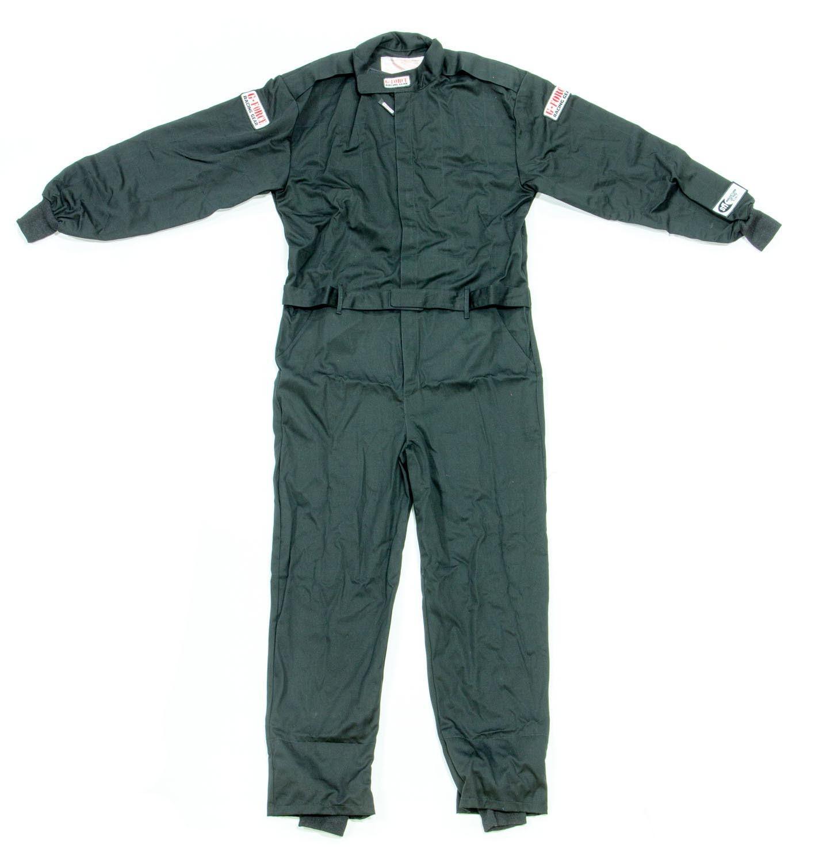 G-Force 4125SMLBK Suit, GF125, Driving, 1 Piece, SFI 3.2A/1, Single Layer, Fire Retardant Cotton, Black, Small, Each
