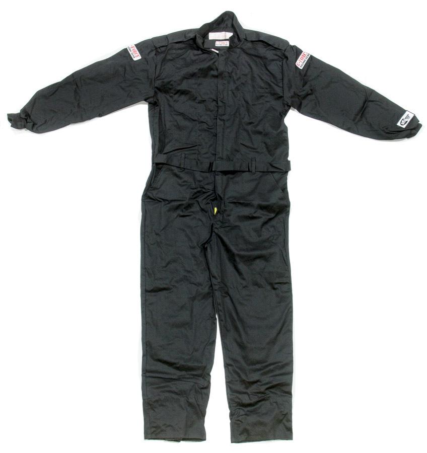 G-Force 4125XXLBK Suit, GF125, Driving, 1 Piece, SFI 3.2A/1, Single Layer, Fire Retardant Cotton, Black, 2X-Large, Each