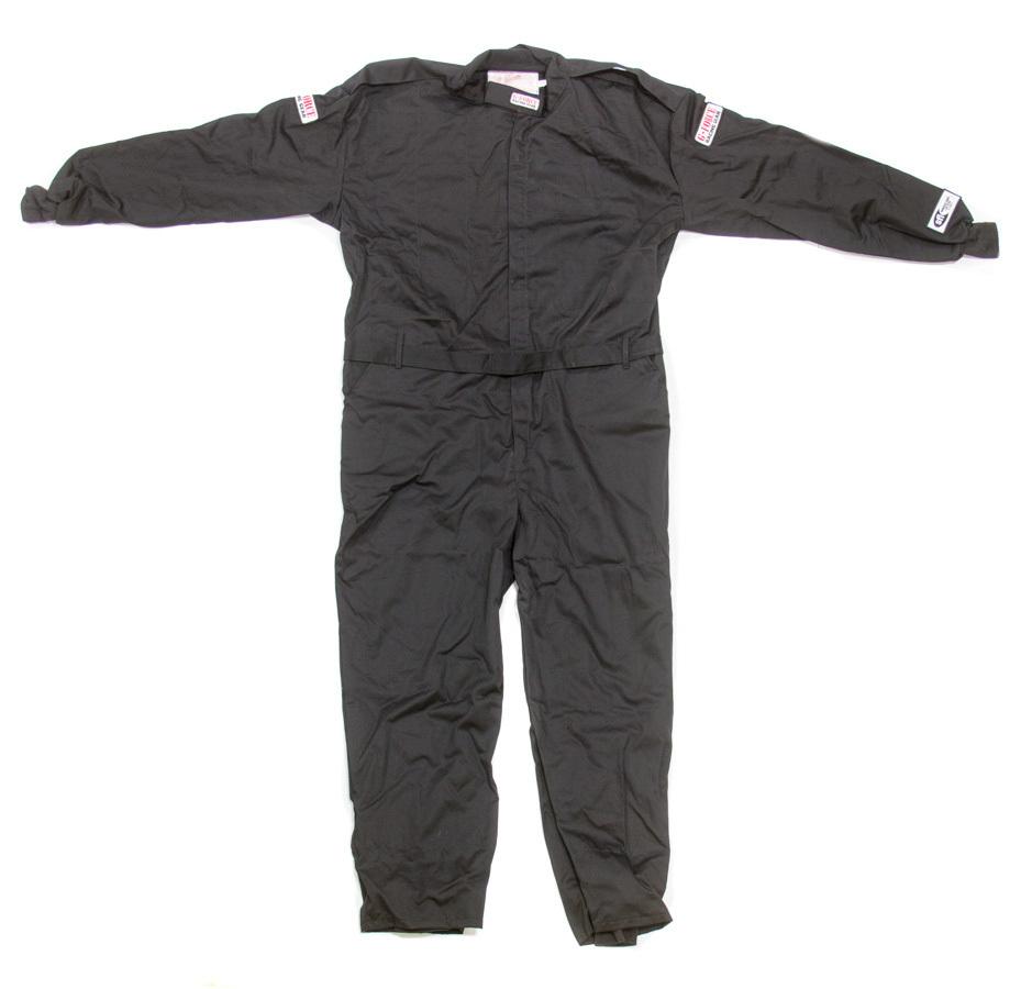 G-Force 4125XXXBK Suit, GF125, Driving, 1 Piece, SFI 3.2A/1, Single Layer, Fire Retardant Cotton / Pyrovatex, Black, 3X-Large, Each