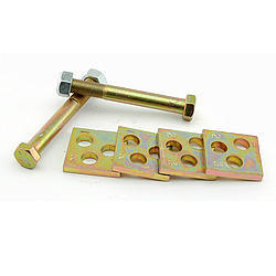 Global West LOC2 Eccentric Lock Out, Loc-Out, Bolts / Plates, Steel, Cadmium, Ford / GM, Kit