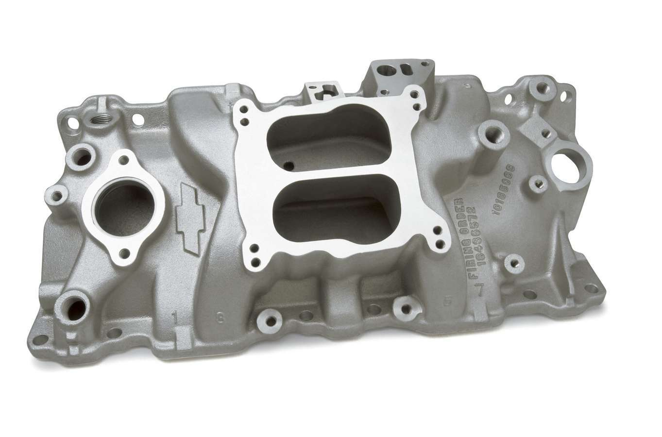 GM Performance 10185063 Intake Manifold, ZZ-Series, Spread / Square Bore, Dual Plane, Aluminum, Natural, Small Block Chevy, Each