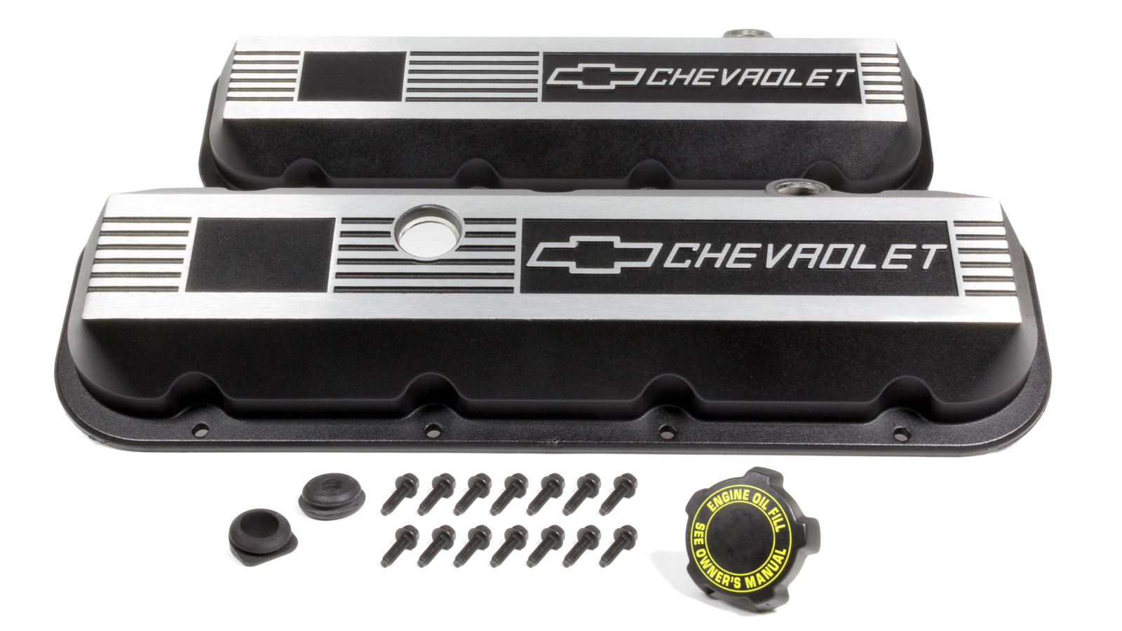 CHEVROLET PERFORMANCE Aluminum Valve Covers - BBC- Short