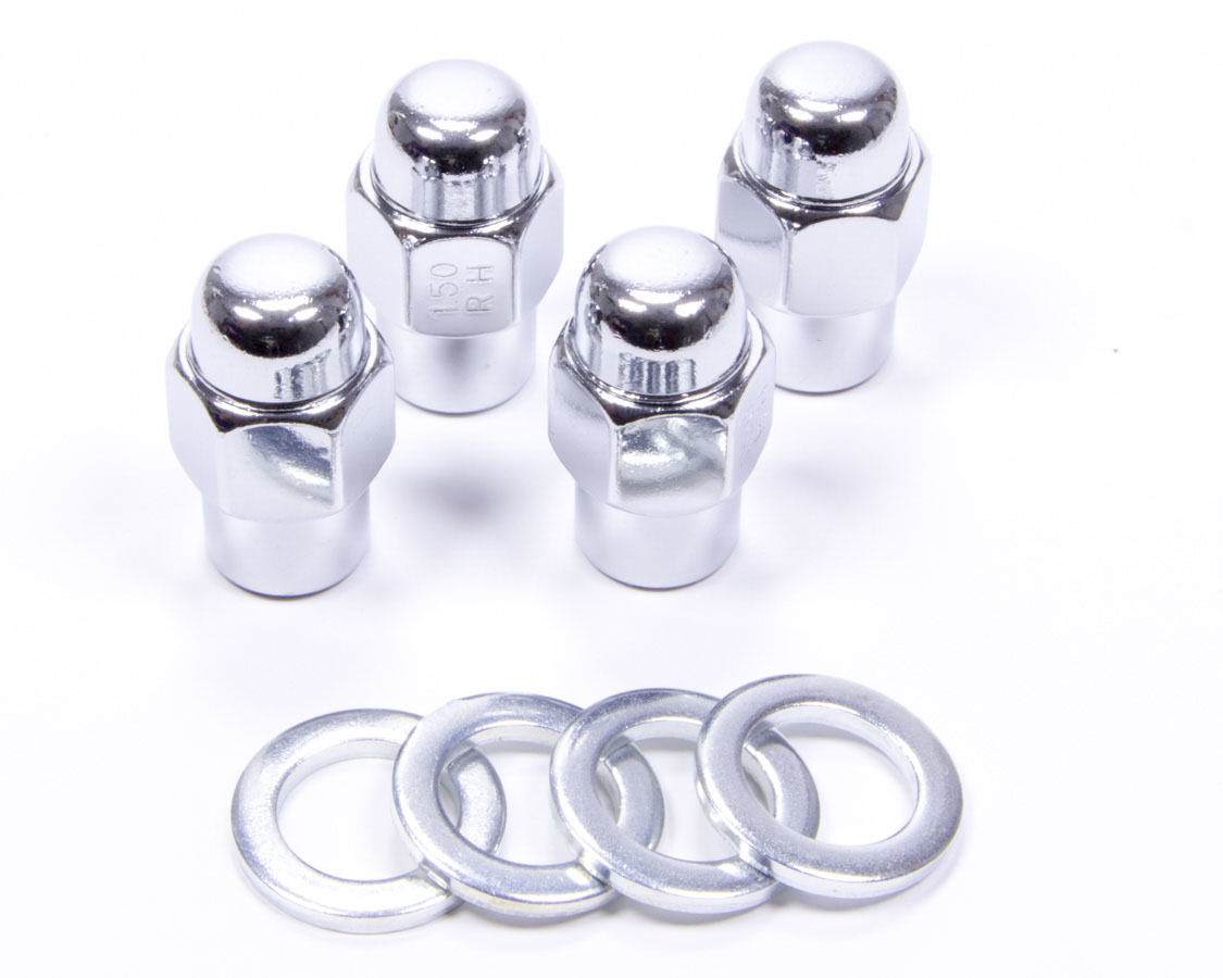 Lug Nuts 1/2in Standard Mag Chrome 4pk