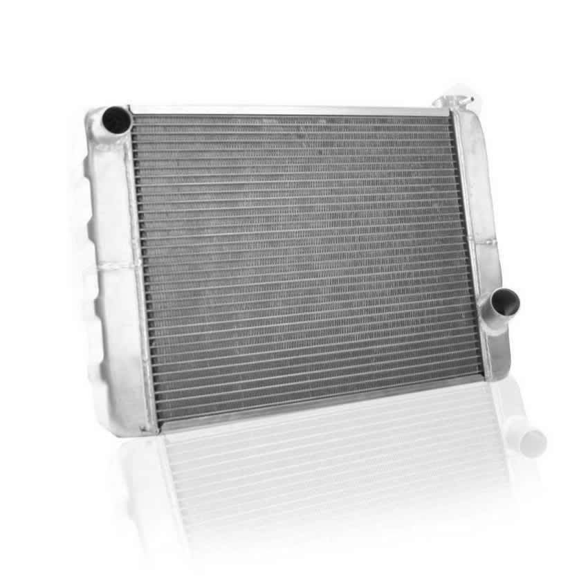 Griffin 125201X Radiator, ClassicCool, 24 in W x 15-1/2 in H x 3 in D, Driver Side Inlet, Passenger Side Outlet, Aluminum, Natural, GM / Mopar, Each
